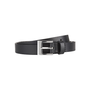 Spurs Slim Black Leather Belt