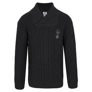 Spurs Boys Cross-Neck Cable Knitted Jumper