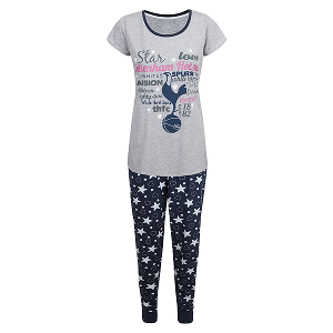 Spurs Womens Heart and Star PJ Set