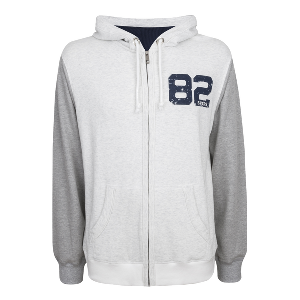 Spurs Mens Contrast Hooded Top
