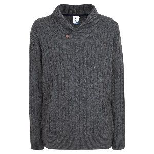 Spurs Mens Cross Over Neck Cable Jumper