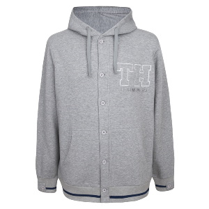 Spurs Mens Button Up Hoodie