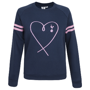 Spurs Girls Heart Print Jumper