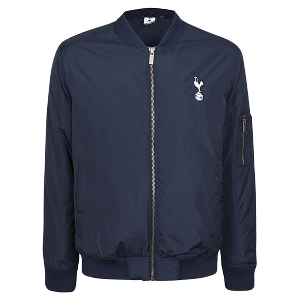 Spurs Mens Navy Bomber Jacket