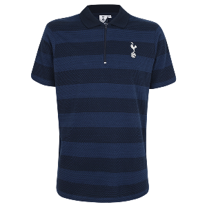 Spurs Mens Textured Stripe Polo