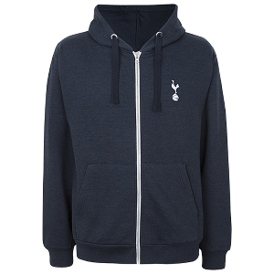 Spurs Mens Full Zip Hooded Top