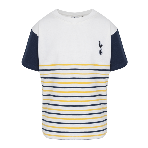 Spurs Boys Pique Stripe Panel T-shirt