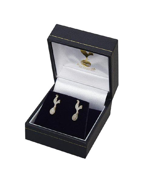 PAIR OF SILVER CREST STUD EARRINGS