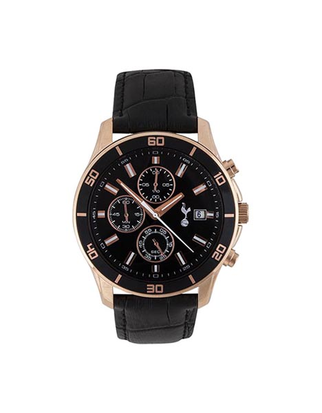 BOXED ROSE GOLD CHRONOGRAPH WATCH