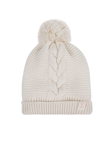 LADIES CREAM BEANIE