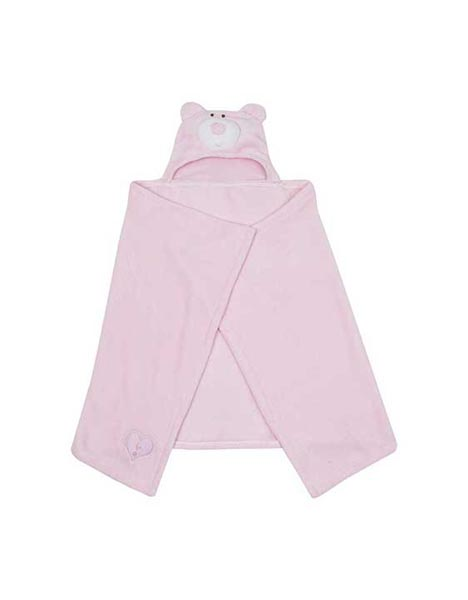 PINK SNUGGLES HOODED BLANKET