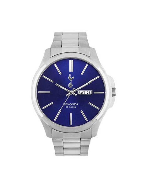MENS BLUE DIAL BRACELET WATCH