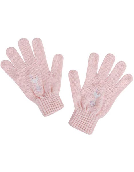 AGE 4-7 YEARS KNITTED PINK GLOVE