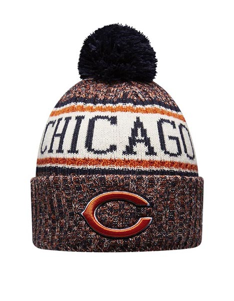 NEW ERA CHI BLU BOBBLE KNIT HAT