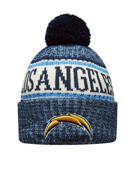 New Era Adult Los Angeles Chargers Bobble Knit Hat  79997953002