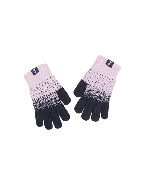 KIDS PINK SCATTER GLOVES