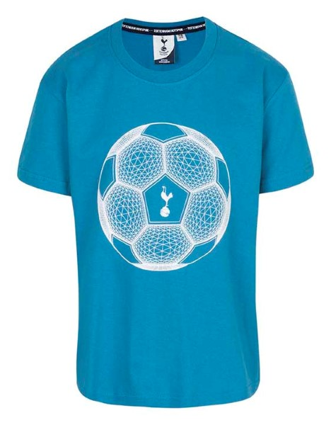 Spurs Boys Football And Crest Print T-Shirt