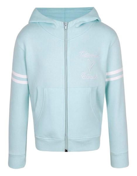 Spurs Girls Heart Embroidery Zip Hoodie