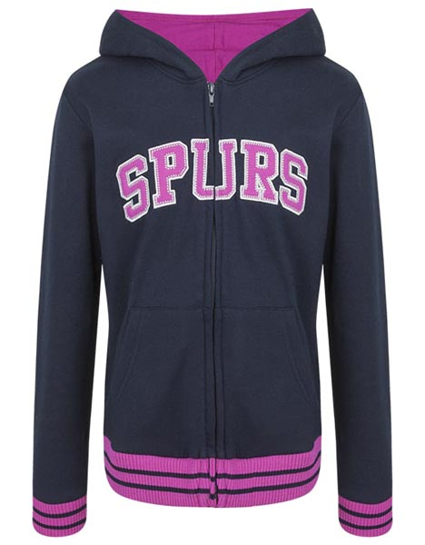 Spurs Youth Girls Zip Through Hoodie