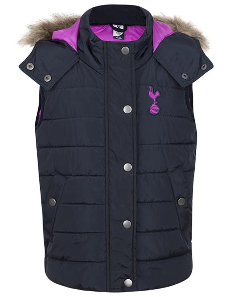 Spurs Girls Fur Trim Gilet