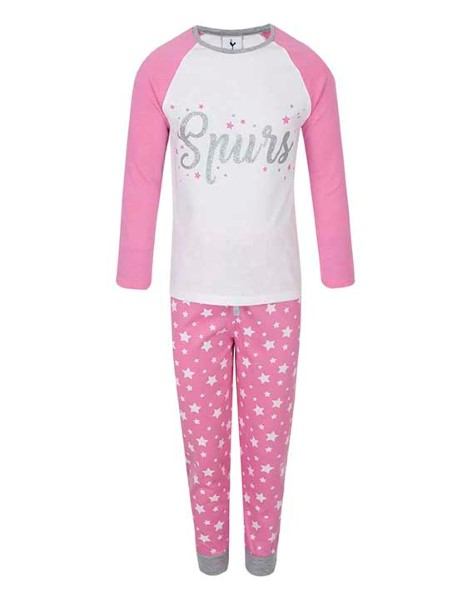 Spurs Younger Girls Star Print PJs