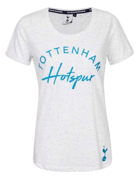 Spurs Womens Mixed Font Embroidered T-Shirt