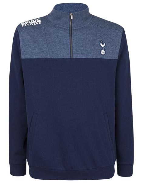 Spurs Mens Funnel Neck Shoulder Print Top