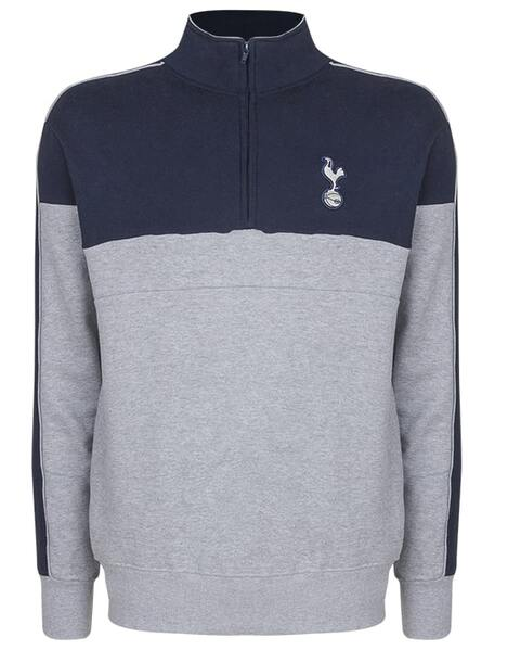 Spurs Mens Piping Detail Funnel Neck Top