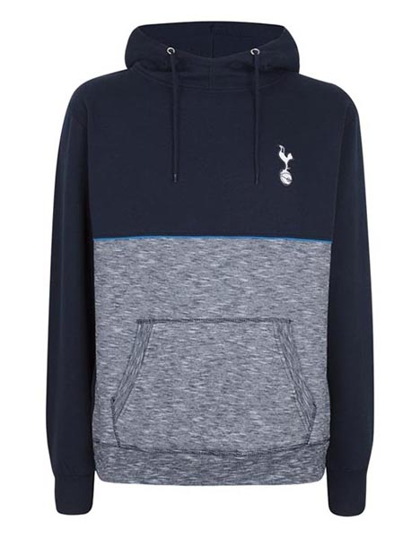 Spurs Mens Mixed Fabric Overhead Hoodie