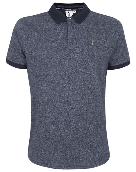 Spurs Mens Waffle Collar Polo