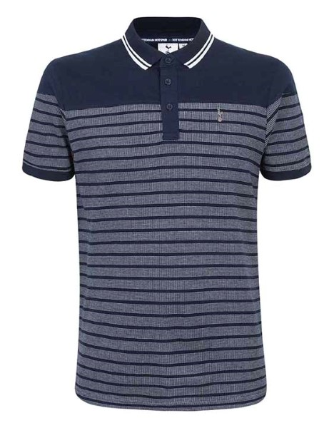 Spurs Mens Plain Yoke Stripe Polo