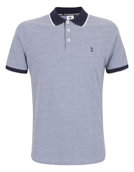 Spurs Mens Single Tipped Textured Polo