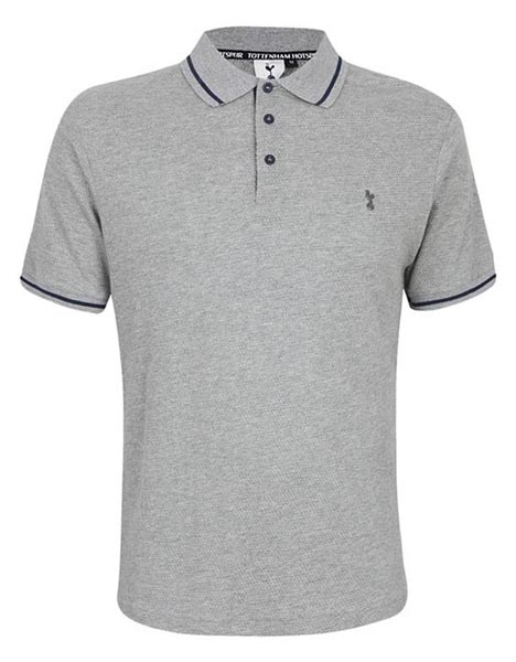 Spurs Mens All Over Texture Polo