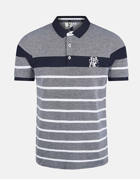 Spurs Mens Stripe Detail Polo
