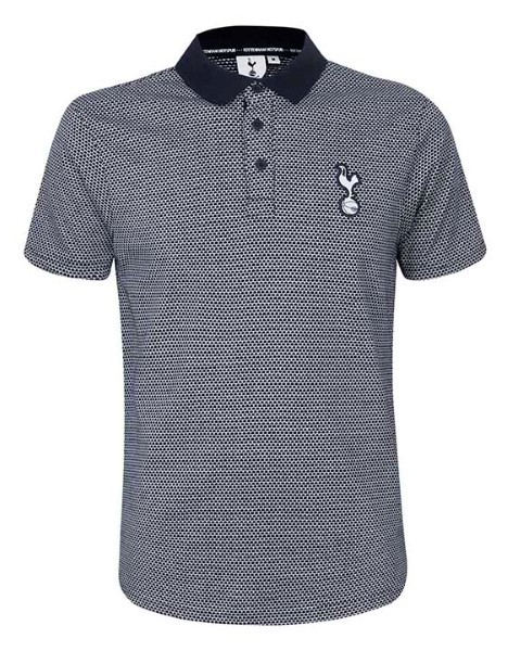 Spurs Mens Stretch Circle Jacquard Polo
