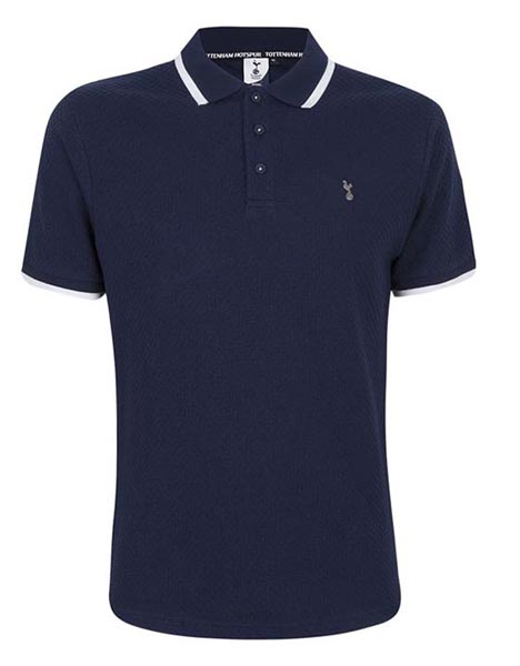 Spurs Mens Square Weave Polo
