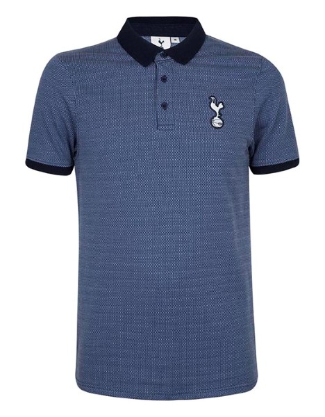 Spurs Mens Solid Collar Pattern Body Polo