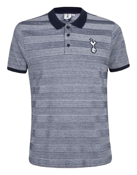 Spurs Mens Self Stripe Contrast Collar Polo