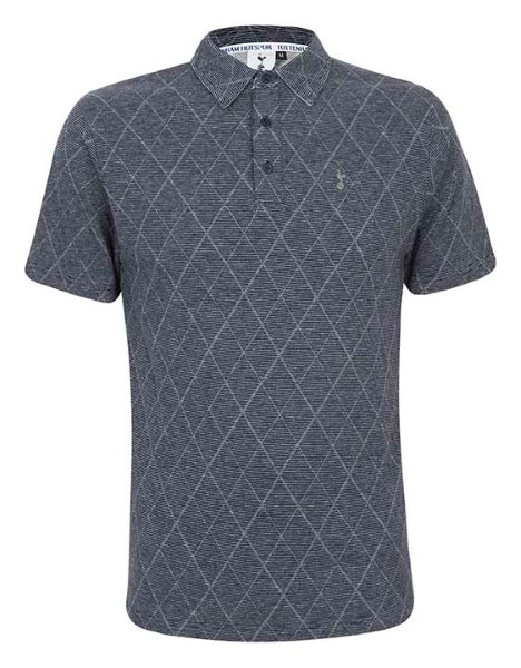 Spurs Mens Diamond Stripe Polo