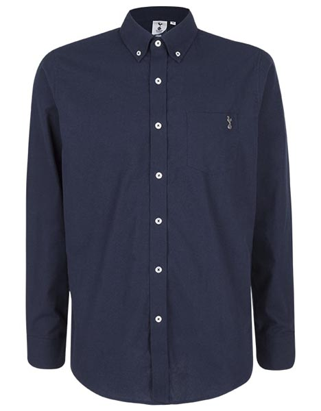 Spurs Mens L/S Navy Shirt