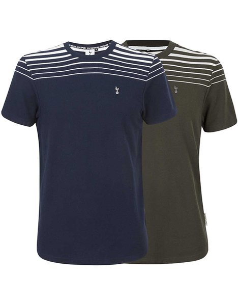 Spurs Mens Pique Stripe T-Shirt