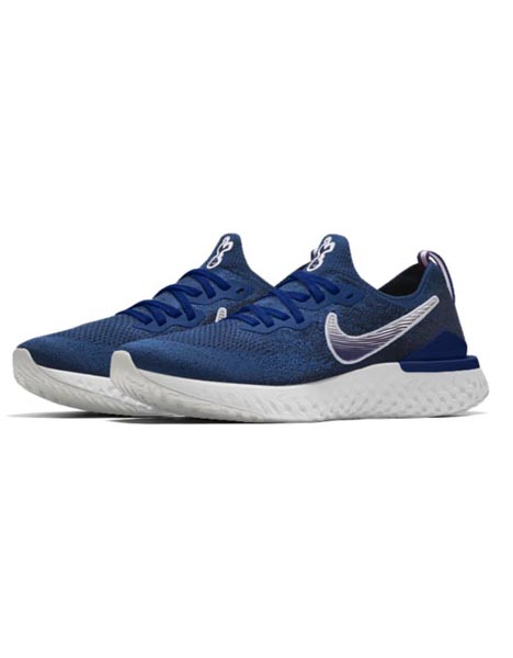 cdc634f18b7fa Spurs Nike Navy Epic React Flyknit 2 Trainers