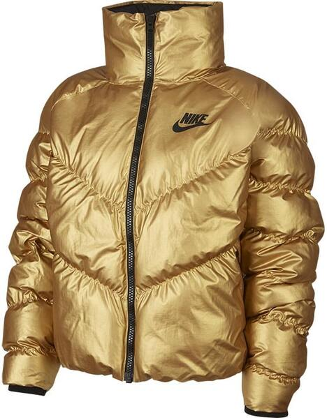 Nike Ladies Gold Shine Down Fill Jacket