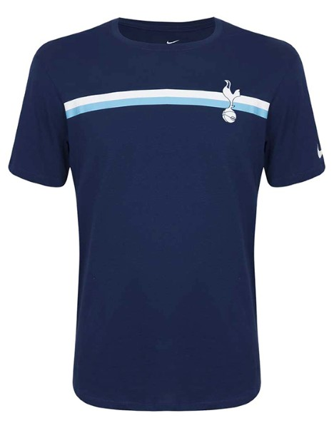Nike Navy Crest Stripe T-Shirt 2018/19