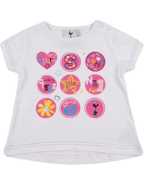 Spurs Baby Girl Multi Circle Logo T-Shirt