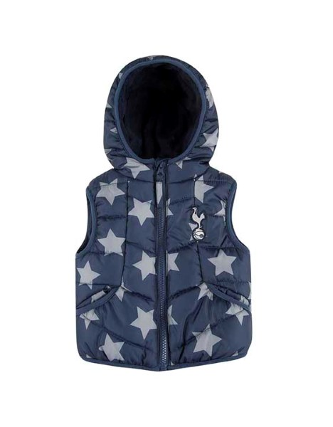 Spurs Baby Star Print Puffa Gilet