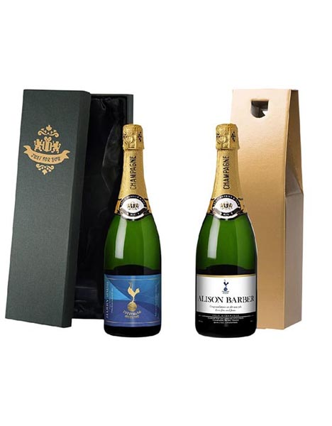 Spurs Personalised Label & Champagne