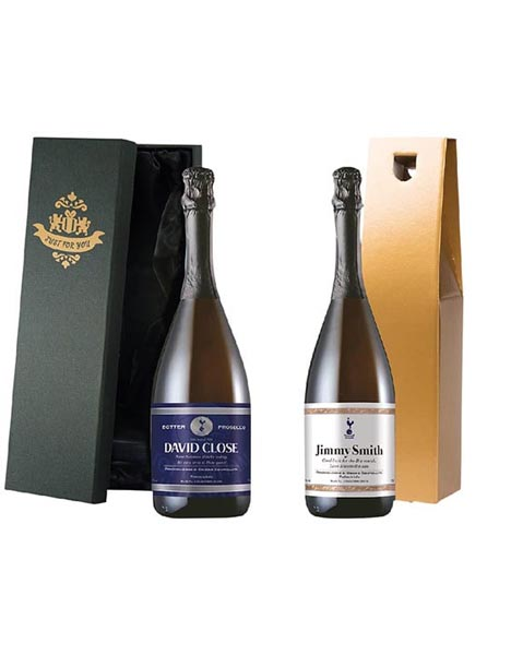 Spurs Personalised Label & Prosecco