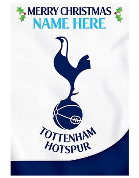 Personalised Spurs Christmas Card