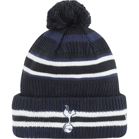 New Era Monogram Knitted Beanie with Cuff and Pompom ~ Tottenham Hotspur Blue
